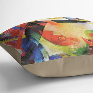 Broken Forms by Franz Marc Cushion