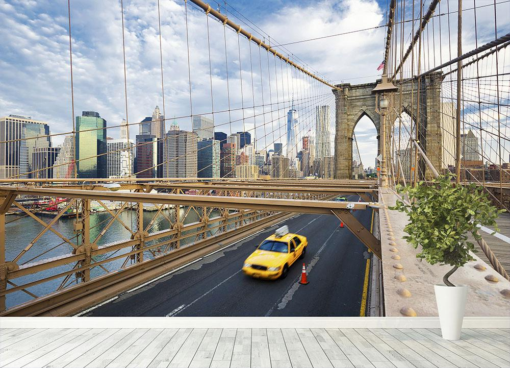 Brooklyn Bridge in New York City Wall Mural Wallpaper Canvas Art Rocks