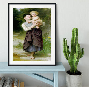 Brother And Sister By Bouguereau Framed Print - Canvas Art Rocks - 1
