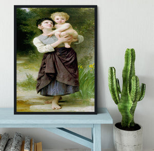 Brother And Sister By Bouguereau Framed Print - Canvas Art Rocks - 2