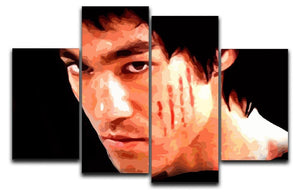 Bruce Lee 4 Split Panel Canvas  - Canvas Art Rocks - 1