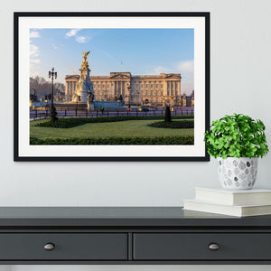 Buckingham palace in early winter morning Framed Print - Canvas Art Rocks - 1