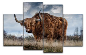 Bull 4 Split Panel Canvas