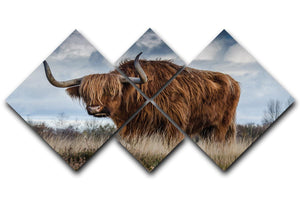 Bull 4 Square Multi Panel Canvas
