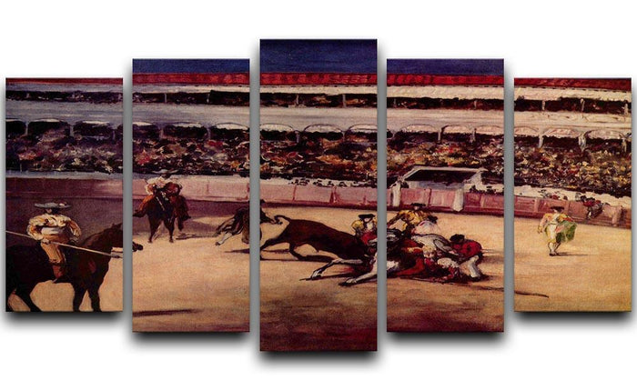 Bullfight by Manet 5 Split Panel Canvas