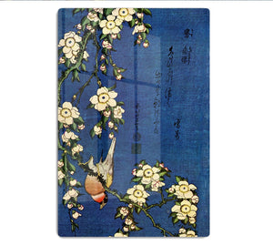 Bullfinch and drooping cherry by Hokusai HD Metal Print