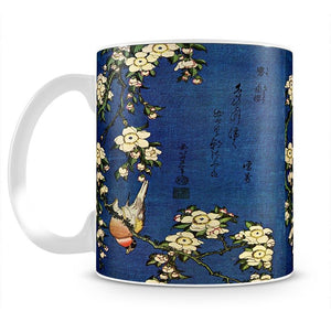 Bullfinch and drooping cherry by Hokusai Mug - Canvas Art Rocks - 2