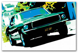 Ford GT Mustang Print - Canvas Art Rocks - 3