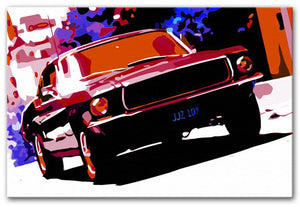 Ford GT Mustang Print - Canvas Art Rocks - 1