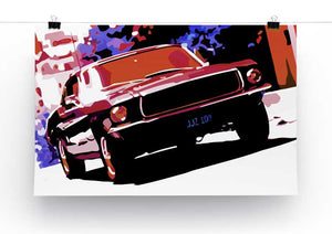 Ford GT Mustang Print - Canvas Art Rocks - 2