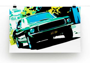 Ford GT Mustang Print - Canvas Art Rocks - 4