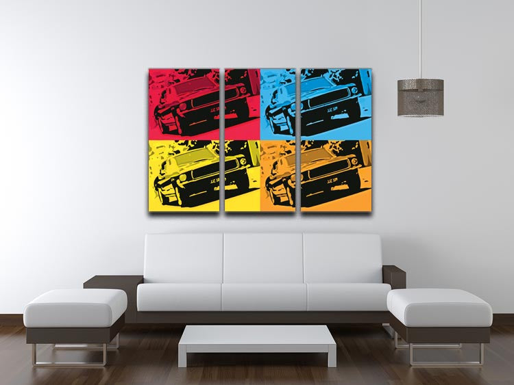 Bullitt Pop Art 3 Split Panel Canvas Print - Canvas Art Rocks