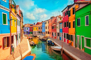 Burano Venetian Lagoon Wall Mural Wallpaper - Canvas Art Rocks - 1