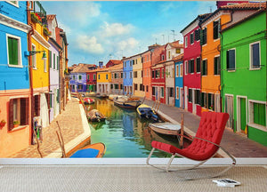 Burano Venetian Lagoon Wall Mural Wallpaper - Canvas Art Rocks - 2