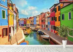 Burano Venetian Lagoon Wall Mural Wallpaper - Canvas Art Rocks - 4
