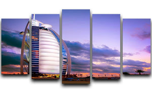 Burj Al Arab hotel 5 Split Panel Canvas  - Canvas Art Rocks - 1