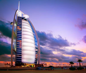 Burj Al Arab hotel Wall Mural Wallpaper - Canvas Art Rocks - 1