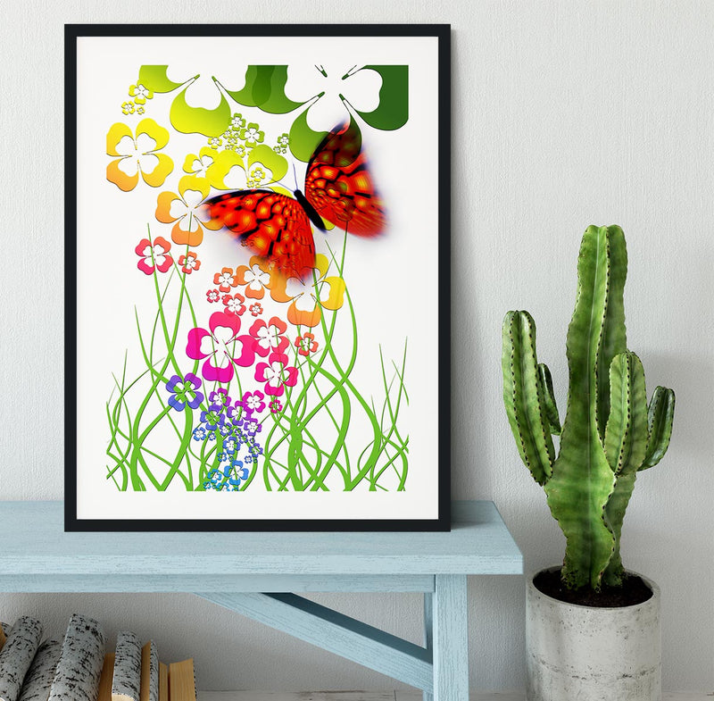 Butterfly Abstract Framed Print - Canvas Art Rocks - 1