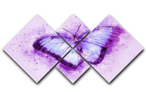 Butterfly Painting 4 Square Multi Panel Canvas  - Canvas Art Rocks - 1