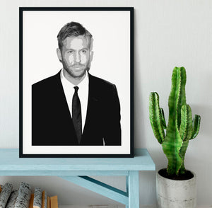 Calvin Harris Black And White Framed Print - Canvas Art Rocks - 1