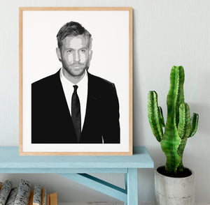 Calvin Harris Black And White Framed Print - Canvas Art Rocks - 3