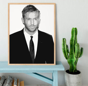 Calvin Harris Black And White Framed Print - Canvas Art Rocks - 4