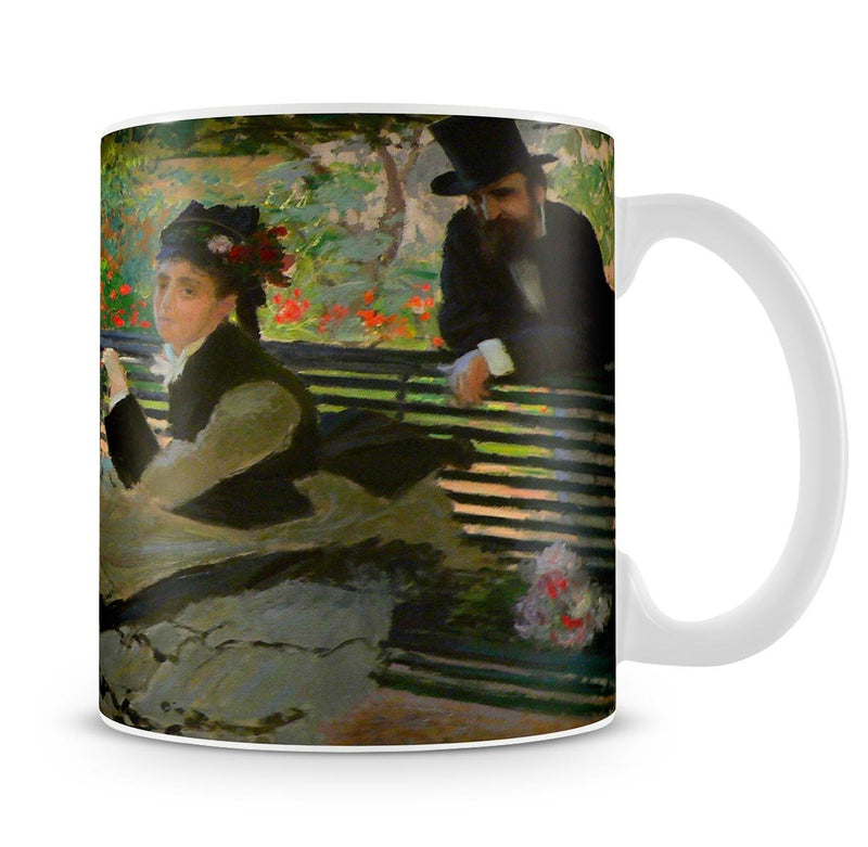 Camille Monet on a garden bench by Monet Mug - Canvas Art Rocks - 4