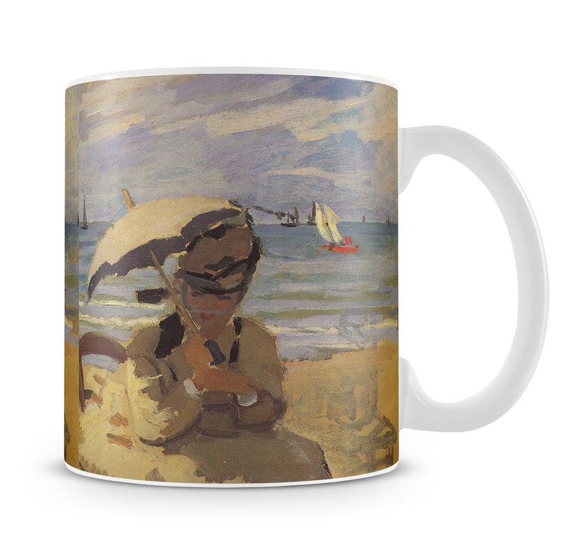Camille Monet on the beach at Trouville by Monet Mug - Canvas Art Rocks - 4