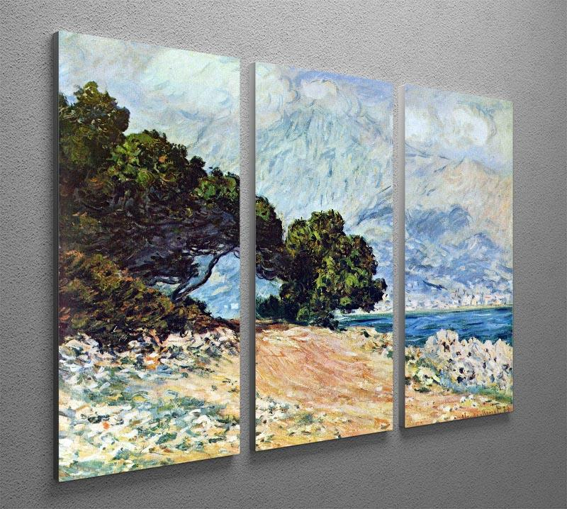 Cape Martin in Menton by Monet Split Panel Canvas Print - Canvas Art Rocks - 4