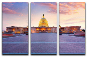 Capitol building sunset 3 Split Panel Canvas Print - Canvas Art Rocks - 1