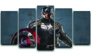 Captain America 5 Split Panel Canvas  - Canvas Art Rocks - 1