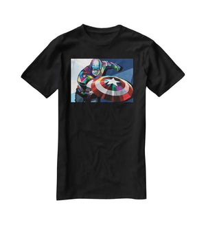 Captain America Pop Art T-Shirt - Canvas Art Rocks - 1