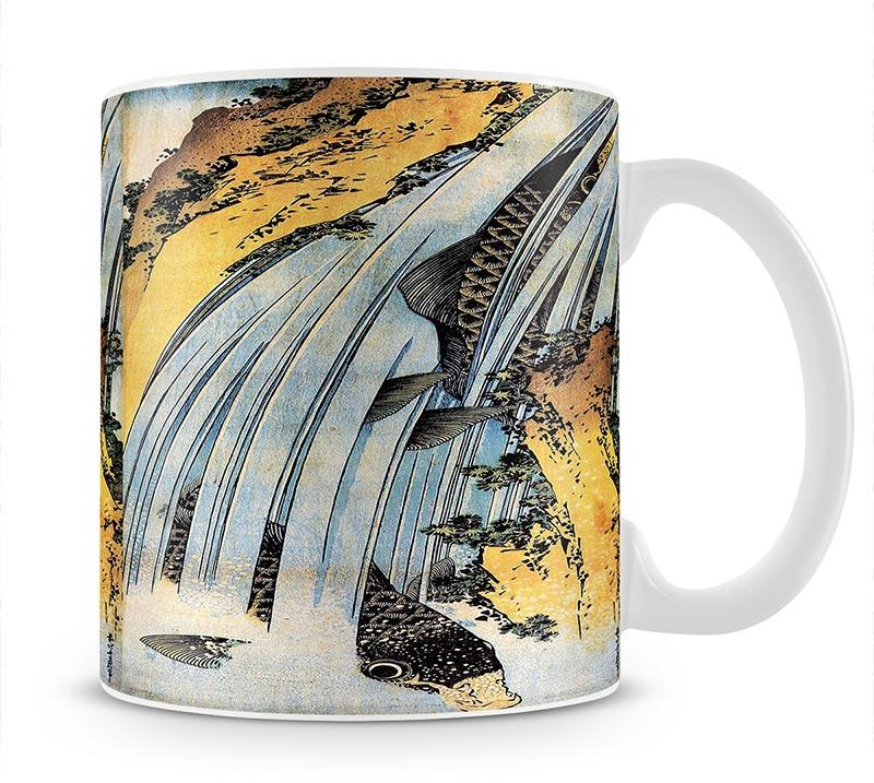 Carps ascending waterfall by Hokusai Mug - Canvas Art Rocks - 1