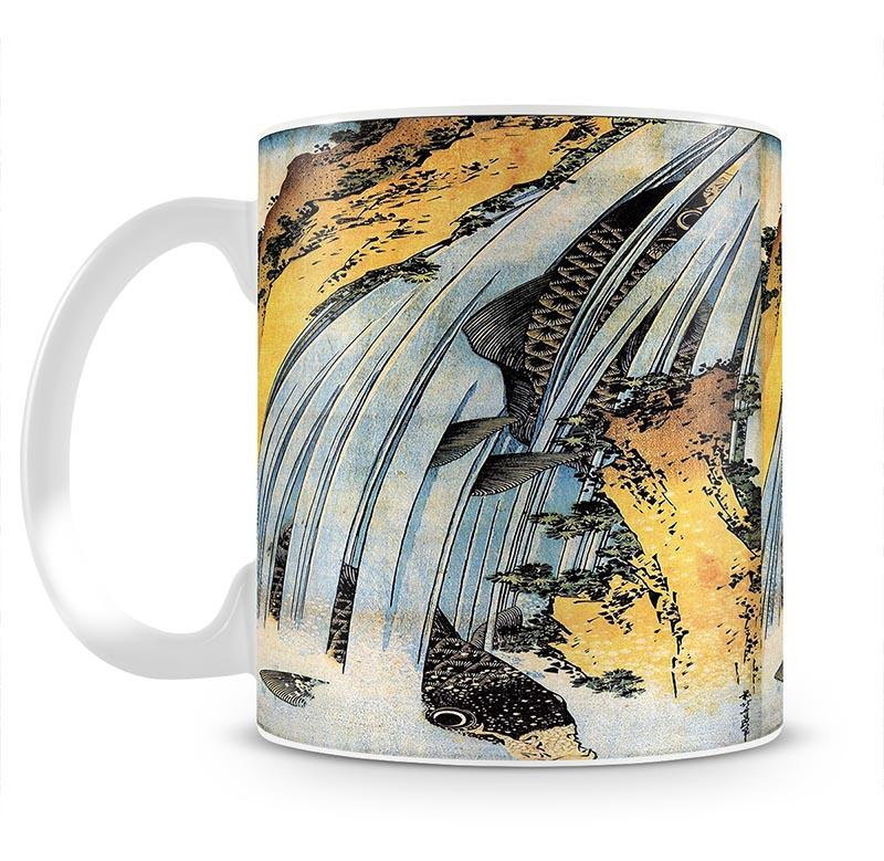 Carps ascending waterfall by Hokusai Mug - Canvas Art Rocks - 2