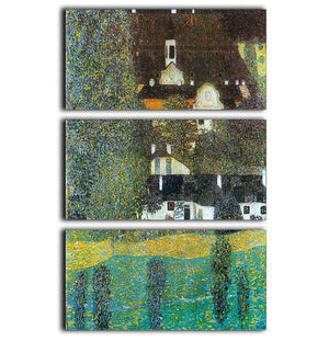 Castle Chamber at Attersee II by Klimt 3 Split Panel Canvas Print - Canvas Art Rocks - 1