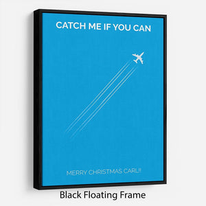 Catch Me If You Can Minimal Movie Floating Frame Canvas - Canvas Art Rocks - 1