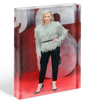 Cate Blanchett Acrylic Block - Canvas Art Rocks - 1