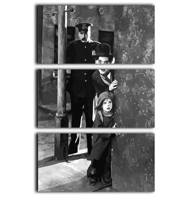 Charlie Chaplin The Kid 3 Split Panel Canvas Print - Canvas Art Rocks - 1