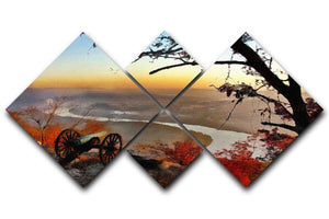 Chattanooga Campaign Painting 4 Square Multi Panel Canvas  - Canvas Art Rocks - 1