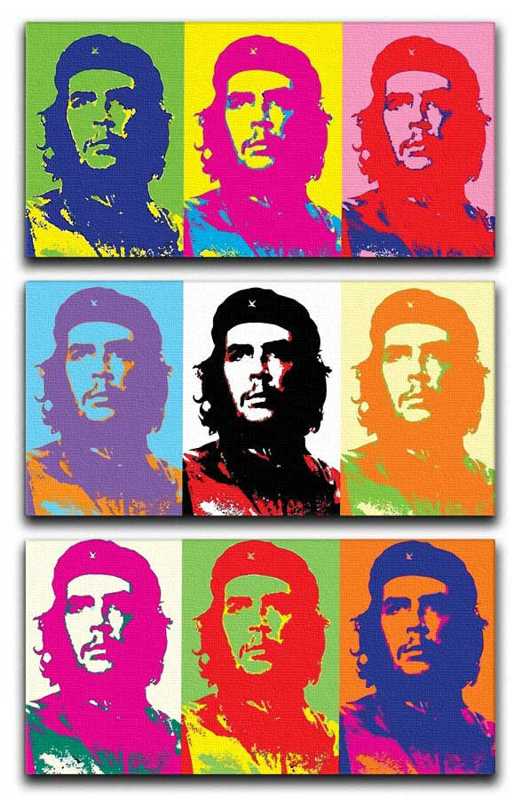 Che Guevara Pop Art 3 Split Canvas Print