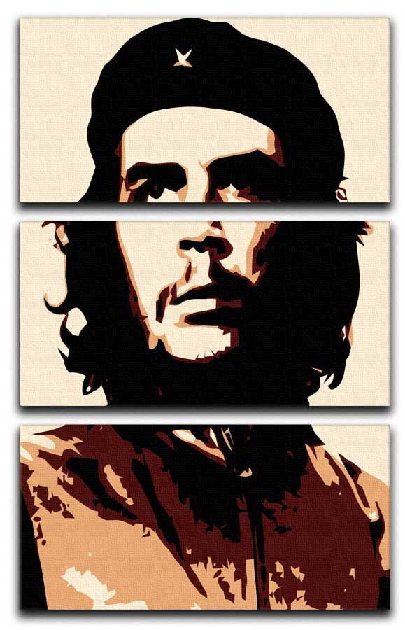 Che Guevara 3 Split Canvas Print