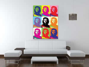 Che Guevara Multi Pop Art Print - Canvas Art Rocks - 4