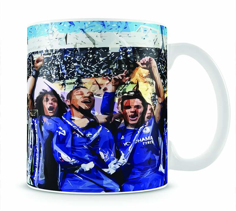 Chelsea FC Premier League Winners 2017 Mug - Canvas Art Rocks - 1
