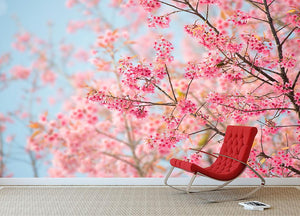 Cherry Blossom Wall Mural Wallpaper - Canvas Art Rocks - 2