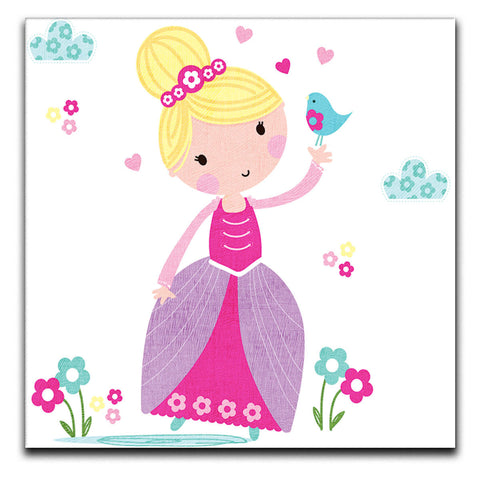 Children's Animal Princess Canvas Print