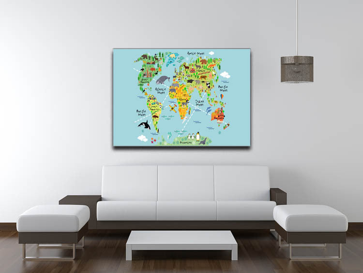 Childrens animal world map canvas print poster canvas art rocks childrens animal world map canvas print poster canvas art rocks gumiabroncs Gallery
