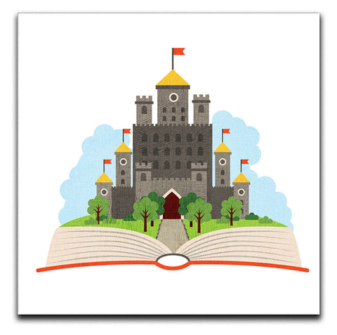 Children's Castle Book Canvas Print