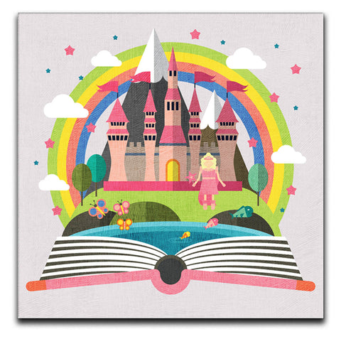 Children's Princess Castle Canvas Print