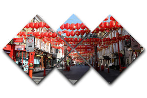 Chinatown London under Lockdown 2020 4 Square Multi Panel Canvas - Canvas Art Rocks - 1