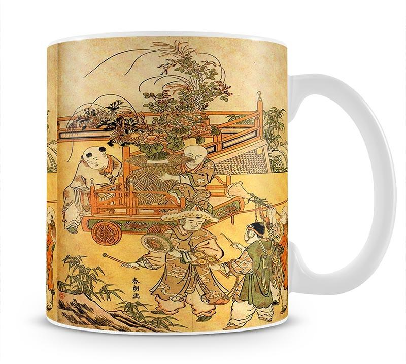 Chinese children by Hokusai Mug - Canvas Art Rocks - 1
